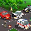 Verkehrsunfall - Kreuzungssituationen mit versetzten Einmündungen von Seitenstraßen